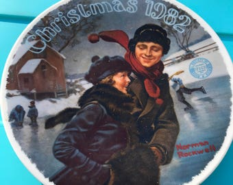 Norman Rockwell Christmas Plate 1982