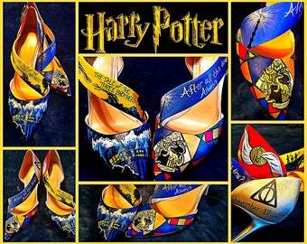 Custom painted Harry Potter Heels! Designed and personalized just for you!