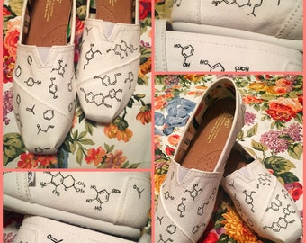 Custom Painted Chemistry Toms. Designed and personalized just for you!