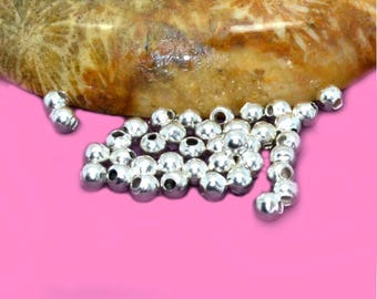 300 beads spacer 2mm silver color
