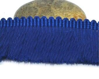 50cm Ribbon 25mm royal blue cotton fringe