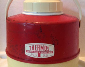 Vintage Red THERMOS Picnic Jug
