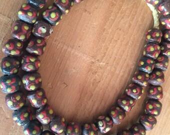 Ghana new powdered glass beads beautiful colors glass beads Africa trade beads