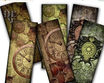 """40% Printable bookmarks """"Steampunk Victorian Bookmarks"""" Digital Collage bookmarks Collage Sheet Instant Download gift Tags Jewelry Digital S"""