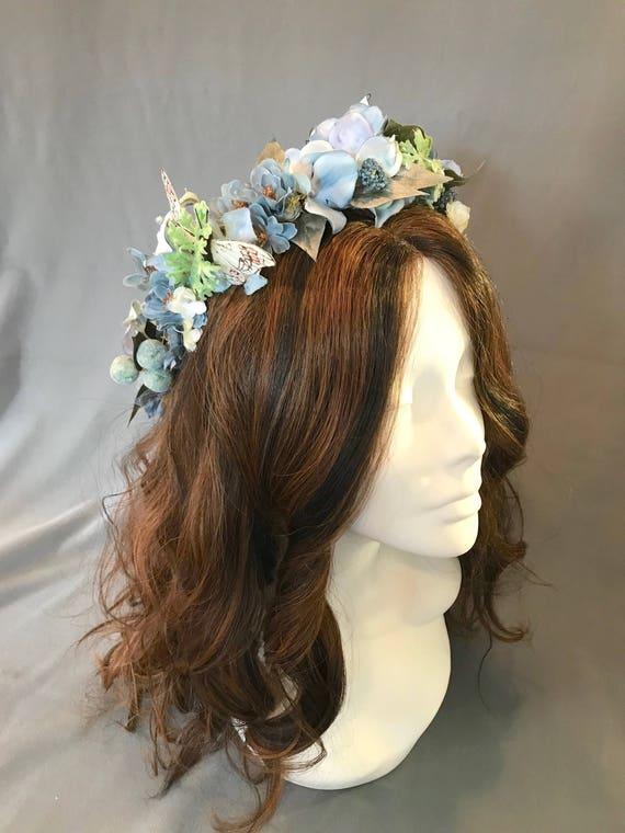 Flower Crown, Wreath, Tiara , Boho Headpiece, Festival Headpiece