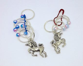 Unicorn Silver Snag Free Stitch Markers, Knitting Stitch Markers, Gift for Knitters, pastel stitch markers, lightweight ring stitch markers