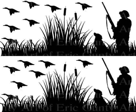 Duck Hunting - Birthday Background - Designer Strips - Edible Cake Side Toppers- Decorate The Sides of Your Cake! - D22508