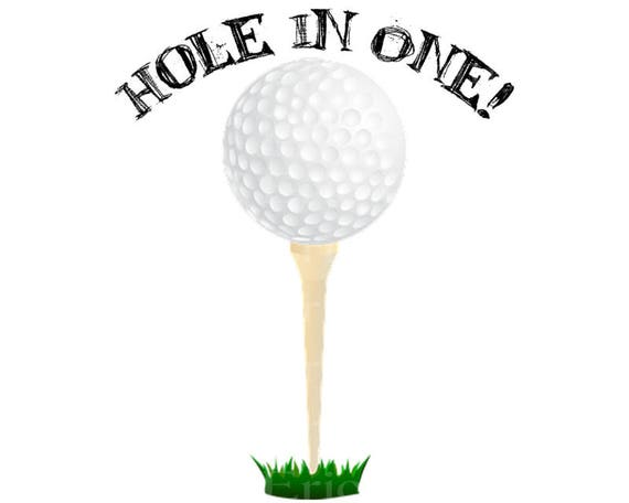Hole In One Golf Happy Birthday - Edible Cake and Cupcake Topper For Birthday's and Parties! - D22749