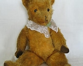 Vintage Teddy Bear Golden Mohair Deans or Pedigree 1950 s 21