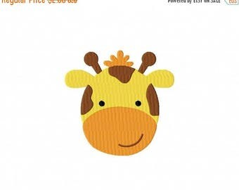 50% OFF - Giraffe Face Machine Embroidery Design Multiple Formats Available - Instant Download