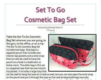 Set To Go Cosmetic Bag Set PDF Pattern