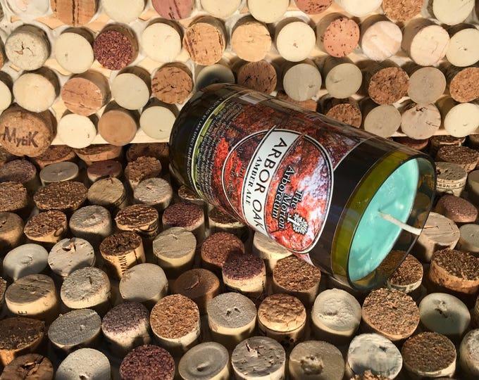 Lake Effect bottle with a Sweet Basil Bergamot candle