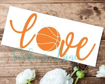 Basketball Love Decal
