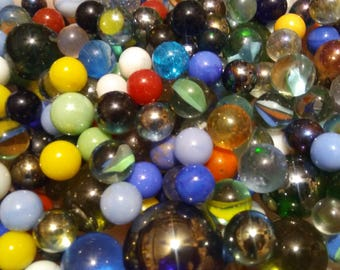 Old Assorted Marbles 140 All Sizes