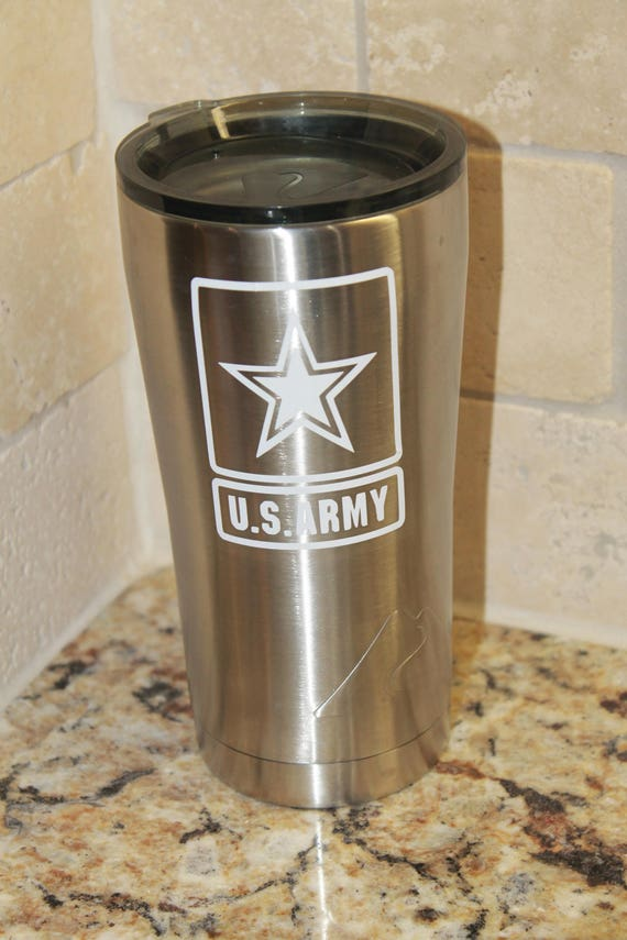 Army yeti Decal, boot camp graduation, army girfriend, Army mom, vinyl decal for tumbler, decals women men, vinyl stickers, truck decals,