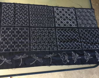 Sashiko table coverlet