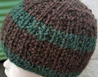 Alpaca Baby Beanie, Baby Alpaca Knit Hat, Green Baby Beanie, knit Infant Hat, Baby Alpaca, Baby Beanie, Brown Baby Hat, Baby Hat, Baby Hat