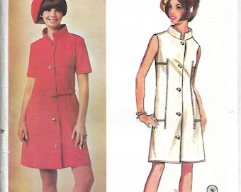 Sewing pattern -  Dress Pattern - hat pattern - Butterick 4328 - young designer Paris - vintage pattern - size 16 bust 36