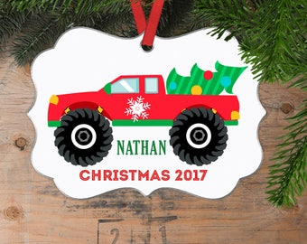 Monster Truck Christmas Ornament for Boys and Men - Truck Gifts for Him