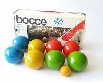 vintage bocce set with made in italy - Bocce Set