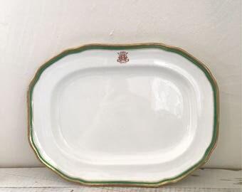 Antique Monogrammed Platter