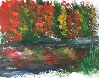 Autumn Reflection ORIGINAL PAINTING