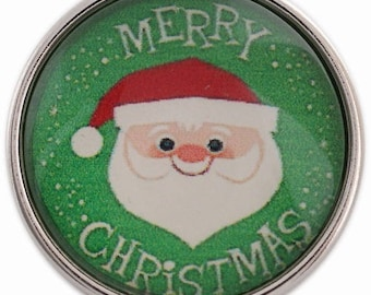C1100 Art Glass Print Chunk - Santa - Merry Christmas