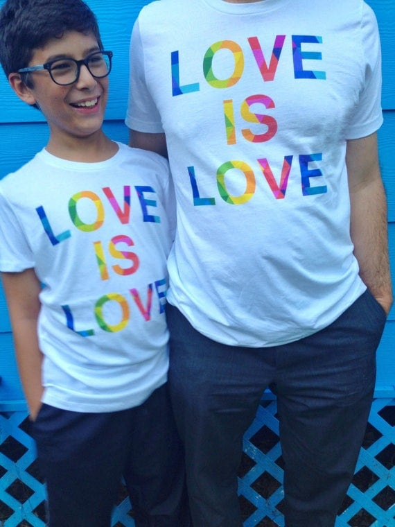 Special Edition! Love is Love Rainbow Pride T-shirt - Gay Lesbian Tees - LGBT Equality Apparel