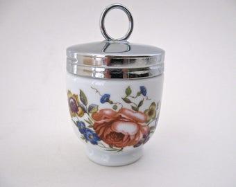"""Royal Worcester Vintage Porcelain Egg Coddler, Standard Size """"Bournemouth"""" Pattern"""