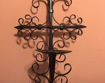 Wrought Iron Candlestick holder