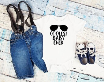 Coolest Baby Ever Bodysuit or Shirt, Baby Boy Clothes, Little Brother Coming Home Outfit, Baby Boy Clothes, Baby Boy Outfit, Little Brother