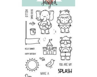 Neat and Tangled - Clear Acrylic Stamps - Beach Day