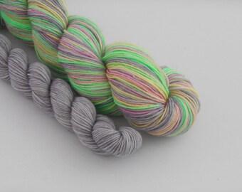 LOVE SOCK self-striping, 001, merino nylon sock yarn,100g