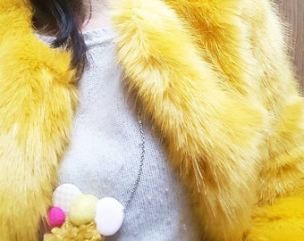 Handmade necklace for girls and women: MUSTARD