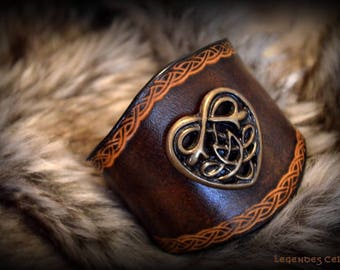"strength bracelet ""Celtic love"" plus size"