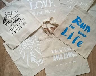 Totes with quotes..Personalised