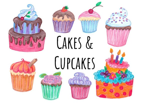 hand drawn cake and cupcakes clipart doodle cake clip art hand drawn cupcake clip art decorate your own cake clipart birthday party from storiestocraft