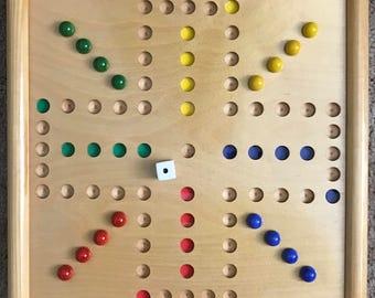 WAHOO WA HOO Board Game (12 x 12 inch) . Travel Size 4 Player Game kk 00