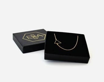35% Discount 14k Gold plated triangle necklace