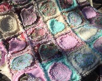 Custom Ragged Applique Rag Quilt