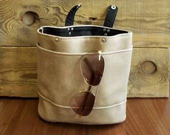 Purse organizer, Bag insert organizer, Travel organizer, Handbag organizer, Bag organizer, Brush holder, Desk set, Distressed vegan leather