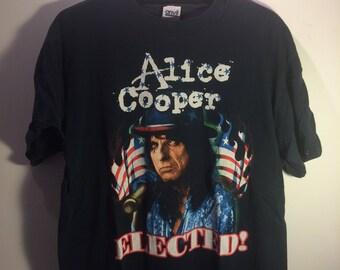 Vintage Alice Cooper Rock T Shirt Bush/Kerry 00's - Men's L