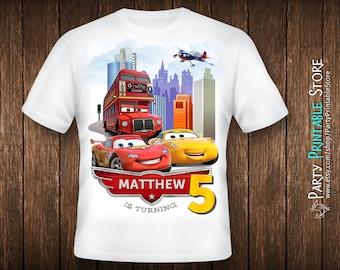 Cars birthday shirt, Cars birthday shirt for boys, Cars birthday shirt iron on, Cars birthday shirt for kids, Cars birthday shirt family