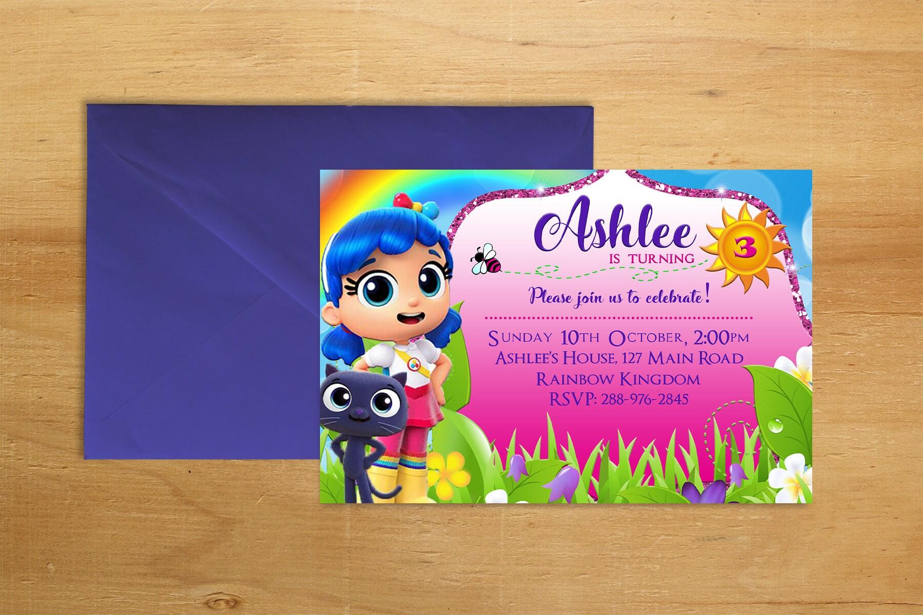 Printable Rainbow Birthday Invitations ~ True and the rainbow kingdom birthday invitation digital printable