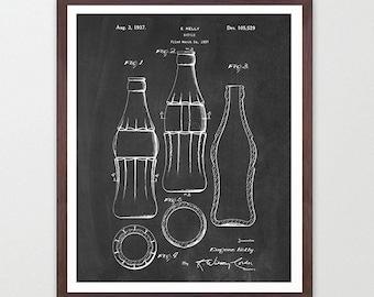Coca Cola Bottle - Coke - Coke Bottle - Coca Cola Patent - Coca Cola Sign - Vintage Coca Cola - Soda - Soda Patent - Bottle Patent - Cola