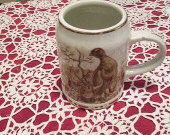 Vintage Gold Trimmed Greman Beer Mug