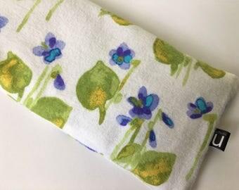 Eye Pillow - Organic Lavender & Flax - Purple Iris