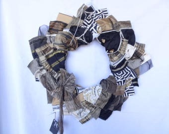 Free Shipping! Handmade Wreath Made with Recycled Material Swatches