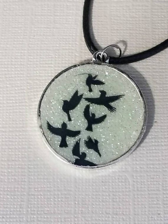 Doves of Peace - glow in the dark necklace