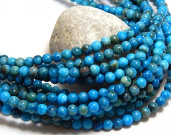 4mm Blue Crazy Lace Agate, Full Strand, Tiny Blue Beads, Small Blue Gemstones, Blue Beads, 4mm Blue Beads, 4mm Crazy Lace Agate,  B-34A